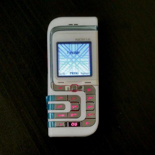 Nokia 7260 White Front Side View WWW.CellCityOnline.Com