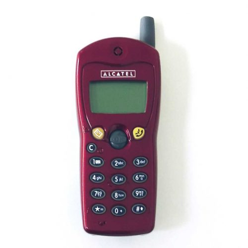 Alcatel OT301 Red Big Button Old Collectible Phones.